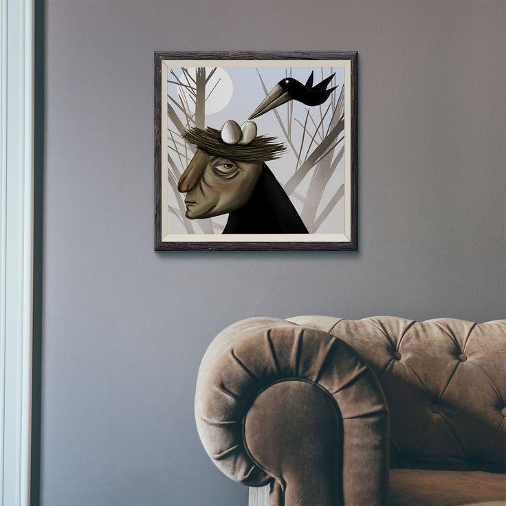 Gallerymak.com - 1.000 TL / 350 USD  Yumurta by Alper İstanbullu - Kağıt üzerine #Dijital #Baskı - 50x50 Egg by Alper Istanbullu - #Digital #Print on Paper - 50x50  #gallerymak #sanat #görsel #illustrasyon #illustration #art #arte #sketch #cizim #drawing #contemporaryart #karga #sanatçı #sanatsal