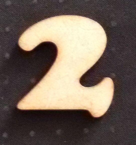 NUMERO 2 (3,0cm)- COOPER BLACK