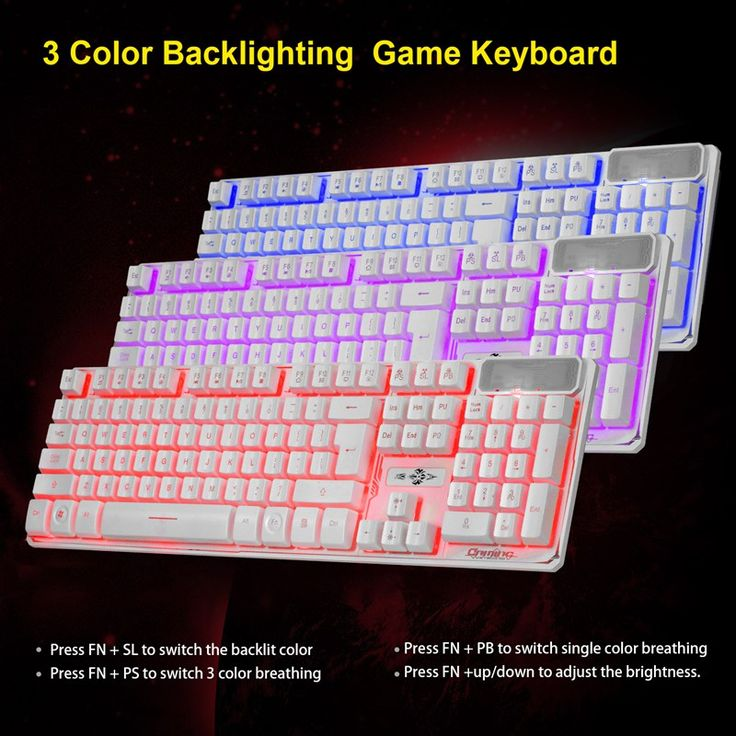 Red/Purple/Blue Backlit Gaming Keyboard Ergonomic Keyboard for PC Keyboard Backlight for Gamer Computer Laptop for LOL #Affiliate