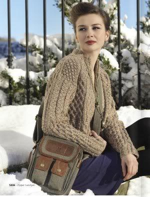Echte wol uit Ierland, gemaakt door Ierse mensen vanuit hun eigen solide traditie maar wel met een fashionable twist. Daar loop ik warm voor.