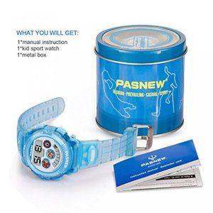 腕時計 ガールズファッション  Kids Digital Watches – VOEONS Sports Watch for Boys Girls, Children Waterproof Alarm Watch, Light Blue 正規輸入品