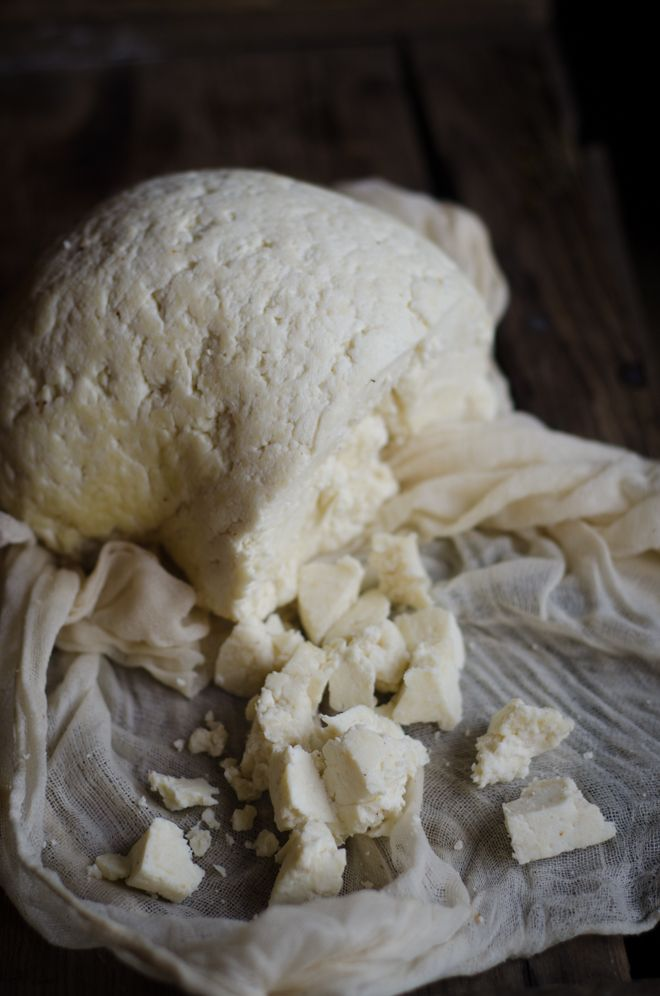 Homemade cheese from raw milk