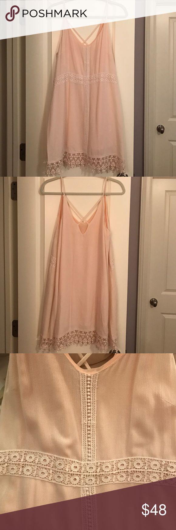 L U S H Pink Lace Trim Dress •From LuLu's boutique in Dallas, TX                             •Worn once// Very comfy                                                        •Tag on inside says Medium but it's baggy enough to fit someone who is M/L Lush Dresses Mini