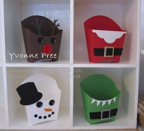 Fry Box Die, Christmas treat boxes, Stampin' Up!, Yvonne Pree