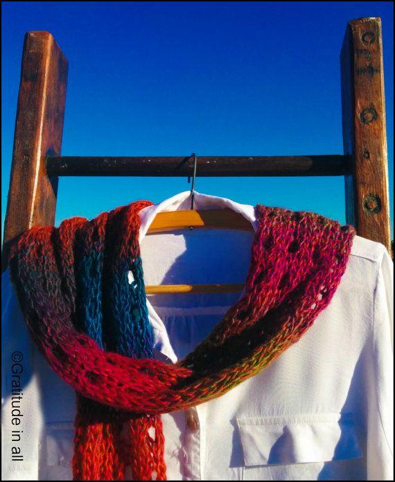 "Hand knitted scarf ""Gypsy Soul"""