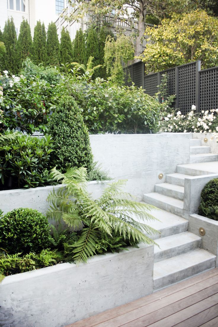 Gorgeous Backyard Garden Love The Cement Stairs And