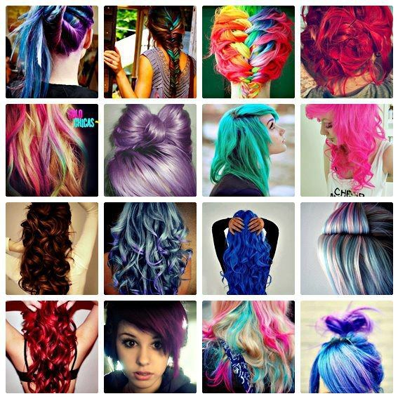 cabellos de colores fantasia en las puntas - Buscar con ...