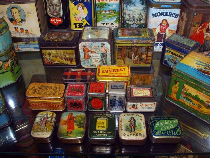 scatole per tè vintage