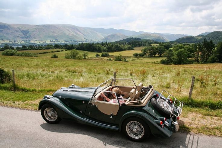 A British hand built Morgan in the Lake District.