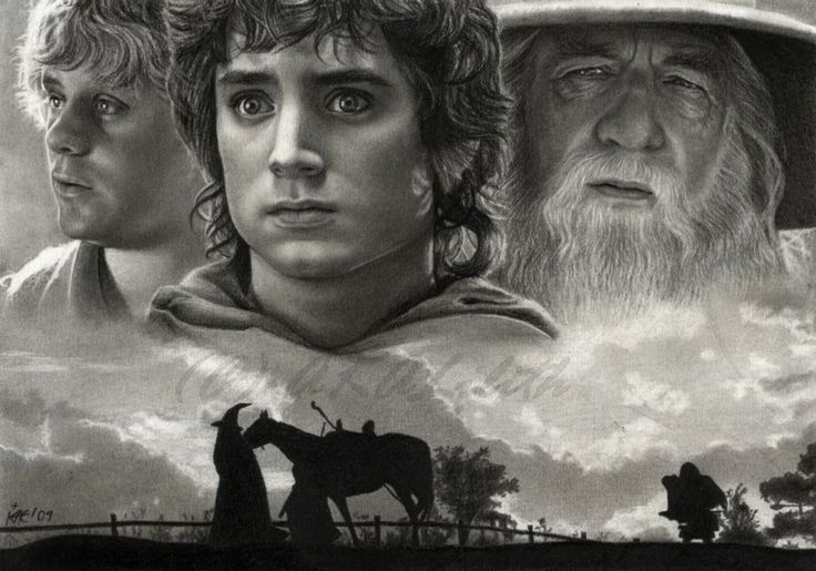 """""""Incredible drawing."""" BTW: I made like 16 LOTR & Hobbit boards and am in the process of moving my pins around. Just so you know :) thanks~~~ Heather S"""
