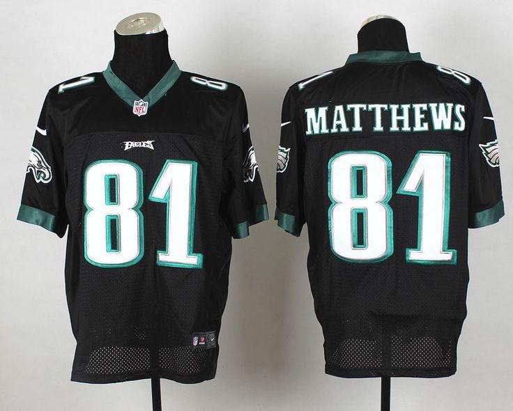 a46006c10 ... Jordan Matthews Black Alternate Mens Stitched NFL Elite Jersey And nfl  jersey number 91 Cheap Wholesale Mens Philadelphia Eagles 95 Mychal  Kendricks ...