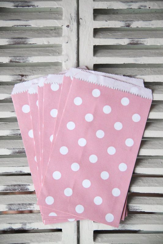 Pink Polka Dot Candy Bags - Small - Teelee - A Bits & Bobs Brand
