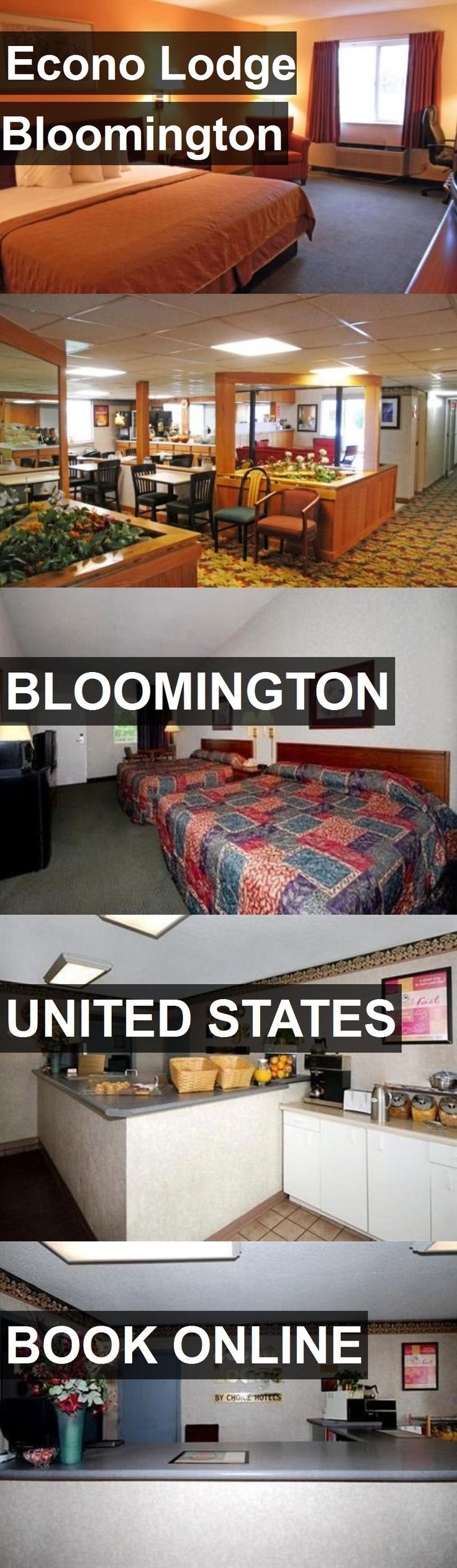 Hotel Econo Lodge Bloomington in Bloomington, United States. For more information, photos, reviews and best prices please follow the link. #UnitedStates #Bloomington #travel #vacation #hotel