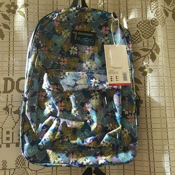 """Track usa backpack college style Blue. 16'5"""" * 13"""" * 6'5"""". College style. Bags Backpacks"""