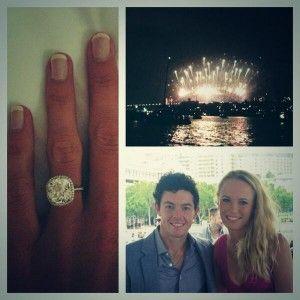 Golfer Rory McIlroy and tennis star Caroline Wozniacki are engaged