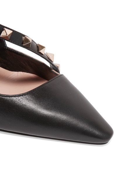 Valentino - Rockstud Two-tone Leather Pumps - Black - IT