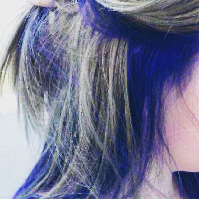 Peek-A-Blue. Twirls & Curls Hair Design at Titanium Studios, Vancouver BC