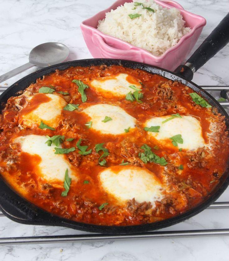 Köttfärspanna med ägg – Lindas Bakskola