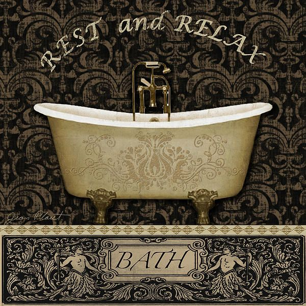 digital art created by jean plout lovely vintage bath tub with calming rest and relax