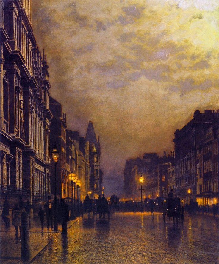 London, Piccadilly at Night, 1885-86 - John Atkinson Grimshaw