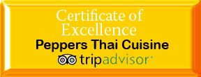 Welcome toPeppers Thai Cuisine