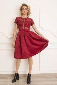 908609 Sukienka wizytowa #reddress #minidress #cocktaildress