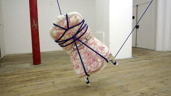 Serial Bondage 6 by Kennedy James - large scale installation - $3,000 on #etsy: Shibari Rope, Japanese Shibari, Serial Bondage, Art Archive, Artistic Chairs, Ancient Art