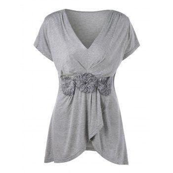 GET $50 NOW | Join Dresslily: Get YOUR $50 NOW!https://m.dresslily.com/plus-size-stereo-flower-overlap-t-shirt-product1998806.html?seid=hIbjQAGh5jdM4IbE2CvKpC9dSG