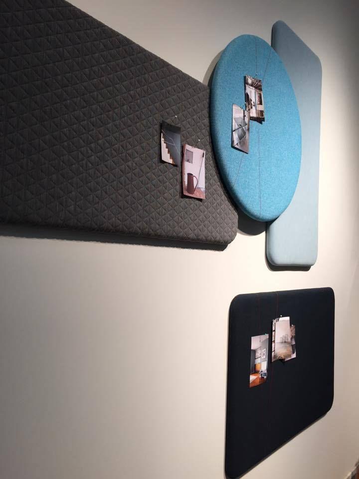Layer it from Bent Hansen. Noticeboards designed by Anne Boysen. #noticeboards #opslagstavler #office #blue #indretning