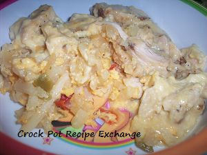 Cheesy Chicken & Hashbrown Casserole #recipe from @Crock_Pots_Rock @Ginger Jones