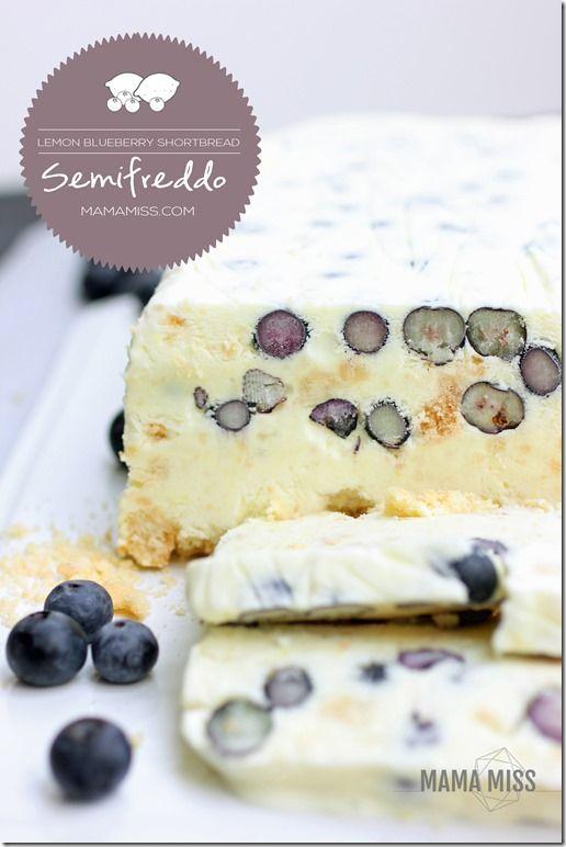 Lemon Blueberry Shortbread Semifreddo | @mamamissblog