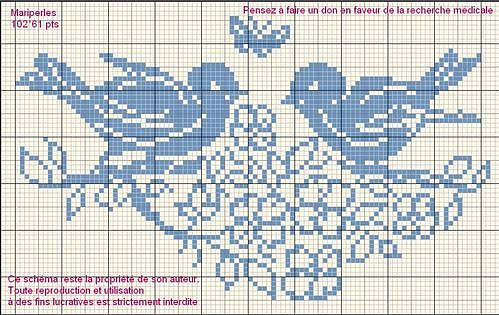 Cross stitch pattern: birds