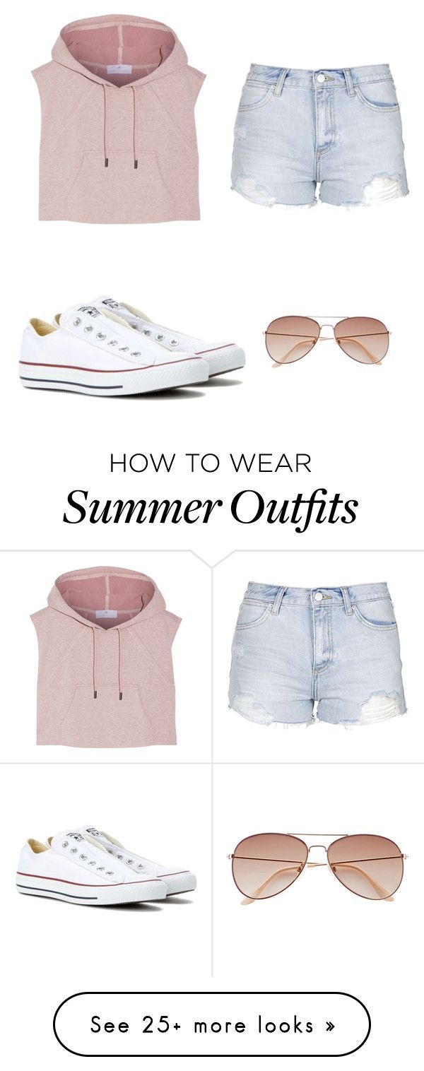 """""""Summer Outfit """" by emily9b on Polyvore featuring Converse, adidas, Topshop, women's clothing, women, female, woman, misses and juniors"""