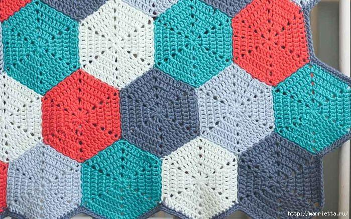 189 best images about uncinetto rosoni piastrelle bordi on pinterest free pattern video - Piastrelle esagonali uncinetto ...