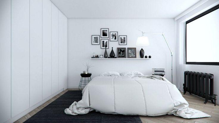 installer une grande armoire fonctionnelle dans la petite chambre blanche
