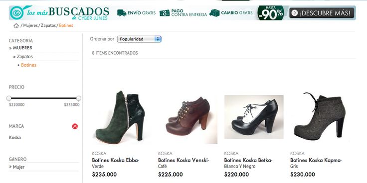 KOSKA ya está disponible en LINIO FASHION, envíos a todo el país. http://www.liniofashion.com.co/linio_fashion/botines/koska/