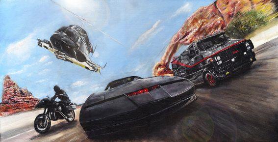 Knight Rider/Airwolf/A-Team/Streethawk  Limited Edition Art Print