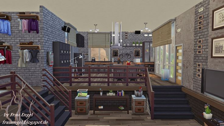 Industrial Loft                                  Download it from Sims 4 Gallery.  My Origin name is babylo5                                                                                                or download here  http://frauengel.blogspot.com.es/2014/09/industrial-loft.html