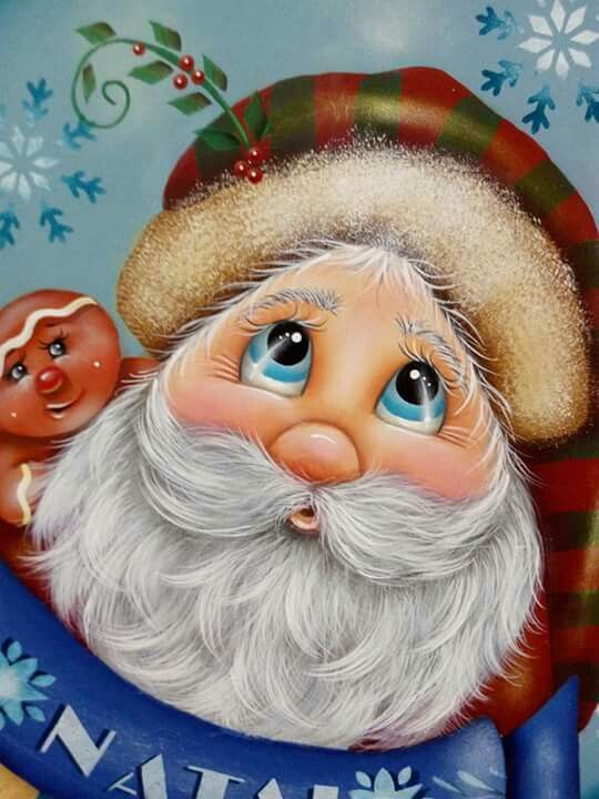 Tole Painted Santa