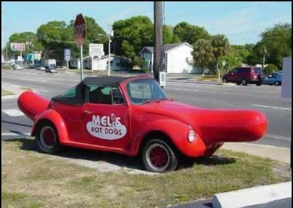 hot looking extremely old vehicles strange hot dog car mels goofy volkswagen