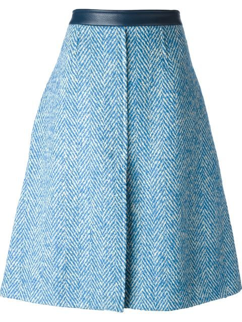 Shop Acne Studios 'Kier' chevron skirt in Dell'oglio from the world's best independent boutiques at farfetch.com. Over 1000 designers from 60 boutiques in one website.