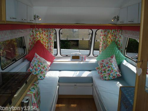 Cath kidston shabby chic non vintage 4 berth caravan home for Cath kidston bedroom ideas