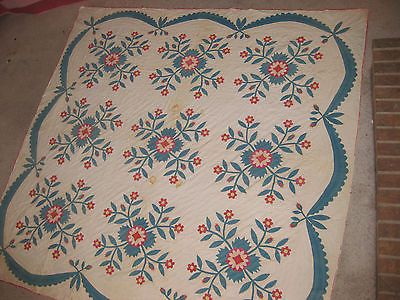 Antebellum-Whig-Rose-quilt-dated-1852-King-Cotton-Pink-Applique