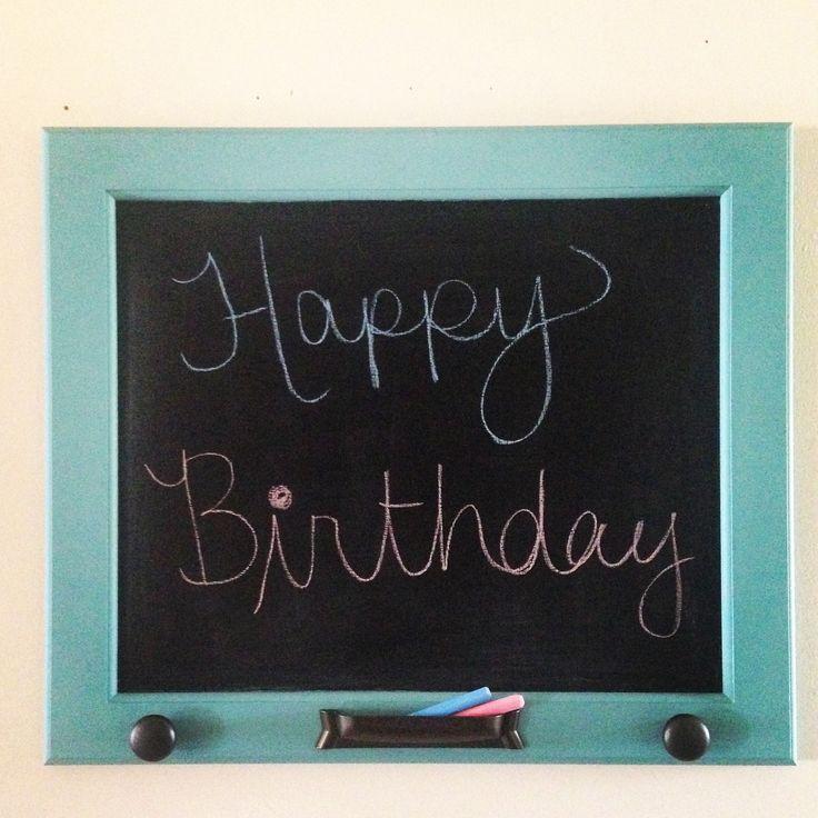 Chalkboard from a cupboard door