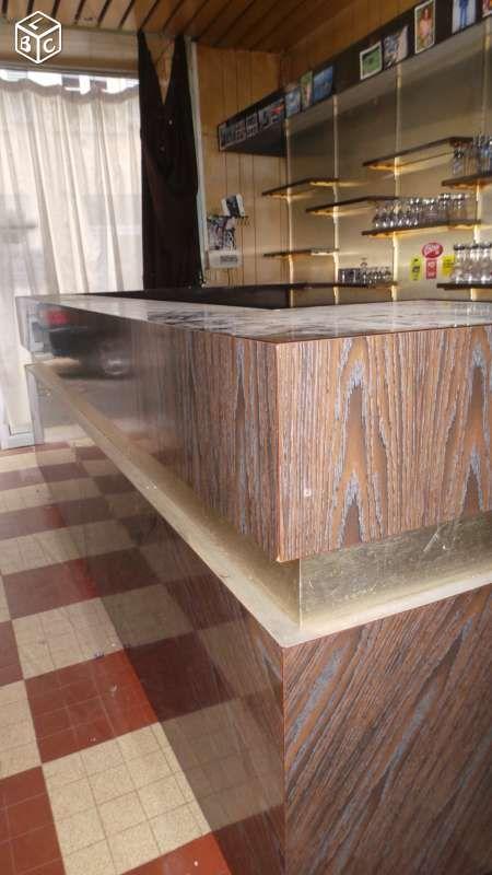 Comptoir de bar ann e 60 restauration h tellerie rh ne for Leboncoin moselle ameublement