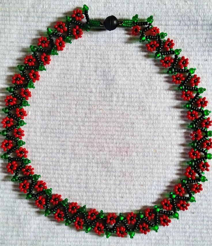 """They call it """"Spring Flowers"""" - I call it """"Christmas Flowers""""   ~ Seed Bead Tutorials"""