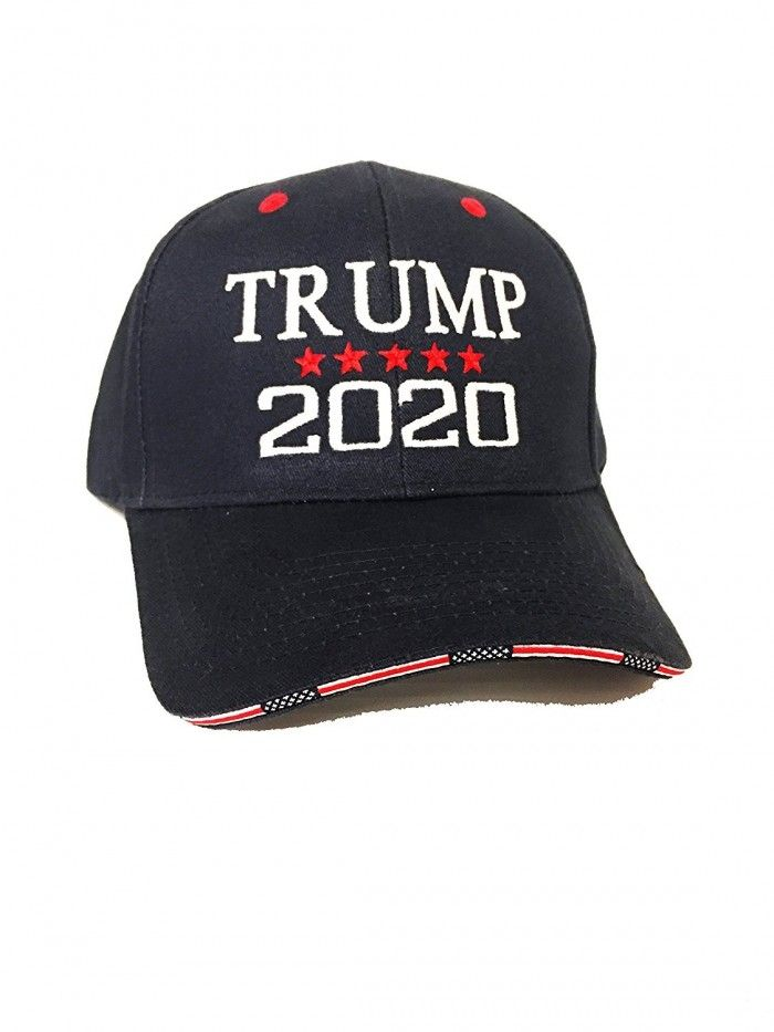480be9892c4 2020 Trump  45  President Hat Embroidery 100% Cotton Navy Red Cap ...