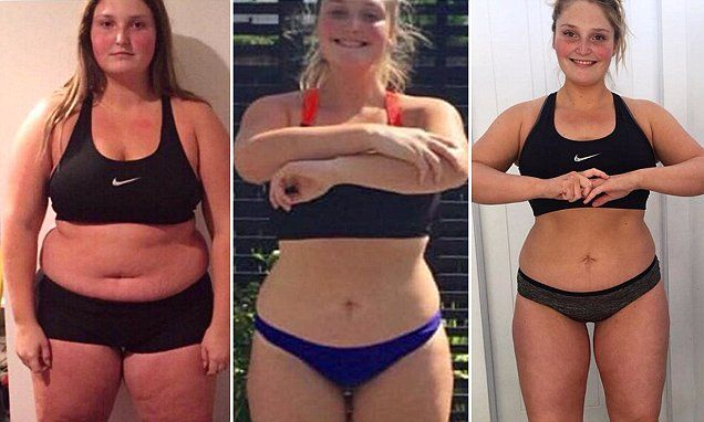 Young New Zealand girl loses 25 kilos in a year | Daily Mail Online