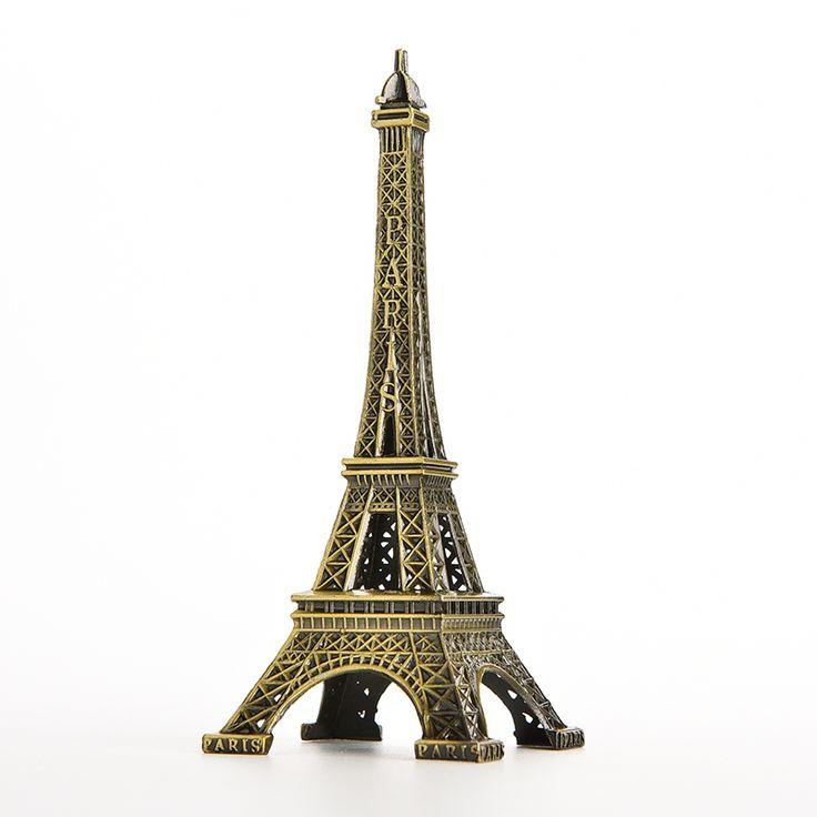 New Household Metal Crafts Bronze Paris Eiffel Tower Figurine Statue Vintage Alloy Model Decor 13cm
