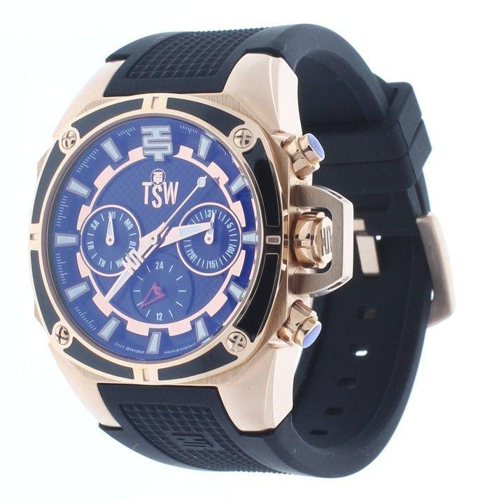 Technosport TS-100-S1 Oro Rosa Mujer/Negro Multifunción Reloj 24 horas Subdial   Ropa y accesorios   Time Machine Plus